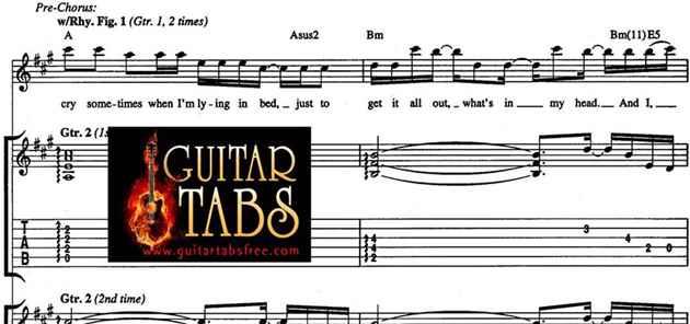 Guitar Tabs, Lyrics, Chords, Music Sheets & Song