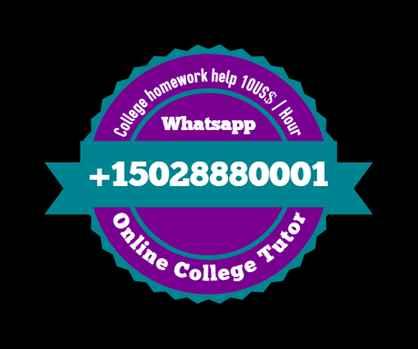 College Homework help, 15028880001 Whatsapp, College Assignment help